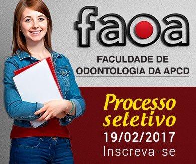 Processo seletivo 2017 - FAOA